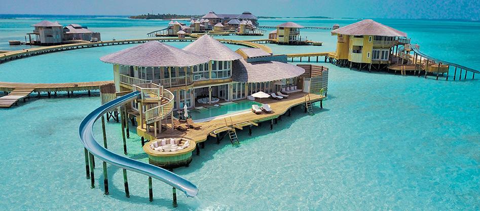 Resort con lo scivolo: alle Maldive esiste!